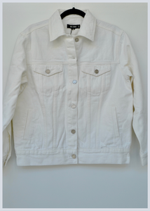 Daisy White Oversized Jacket Size S, M