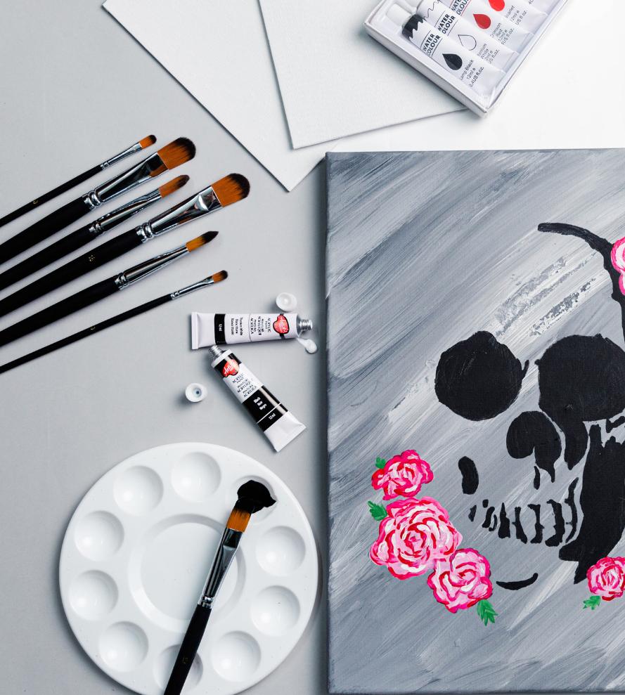 Virtual paint NIghts, Canvases & Tote Bags