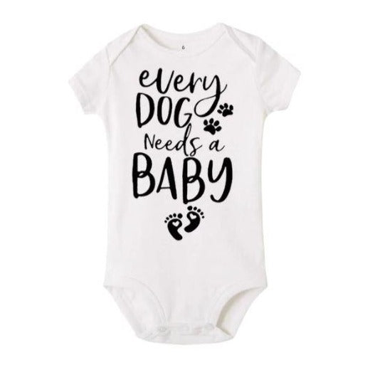 Romper 'every dog needs a baby'