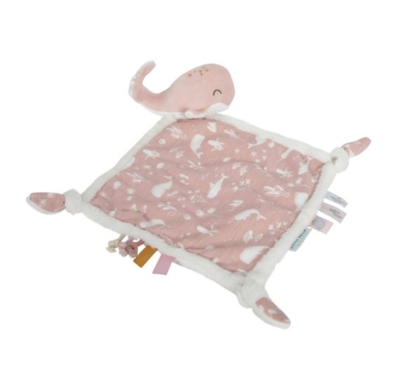 Little Dutch knuffeldoek walvis - ocean pink