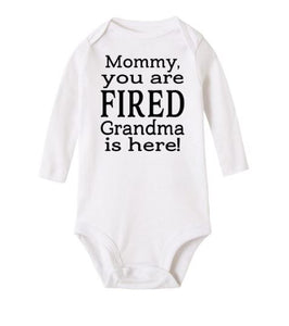 Romper 'mommy you are fired'