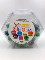 X-Rated Fun Gum - 90 Piece Bowl - Assorted HTP760D