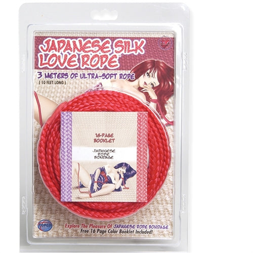 Japanese Silk Love Rope - 3m/ 10 Ft - Red TS1014416