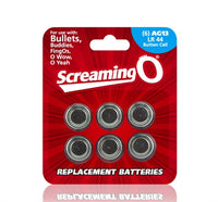 Replacement Batteries AG13 LR44 Button Cell 6 Count Each BAT6-110BE