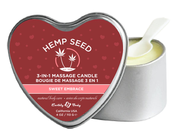 Heart Candle 3-N-1 Sweet Embrace 4 Oz EB-HSCV039