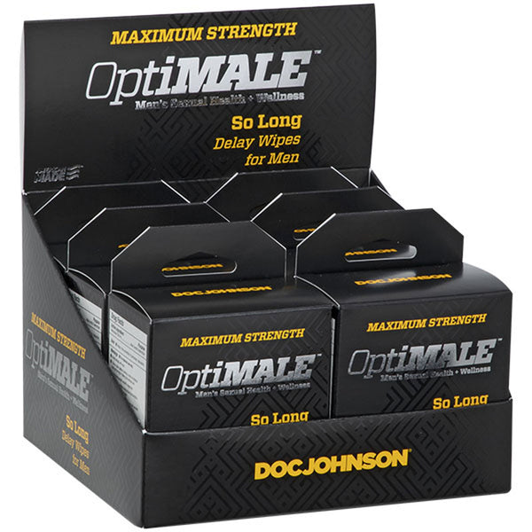 Optimale - So Long Delay Wipes for Men - 6 Pack  Display DJ0695-95-BX