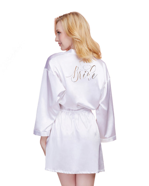 Bride Robe - Medium - White DG-11292WHTM