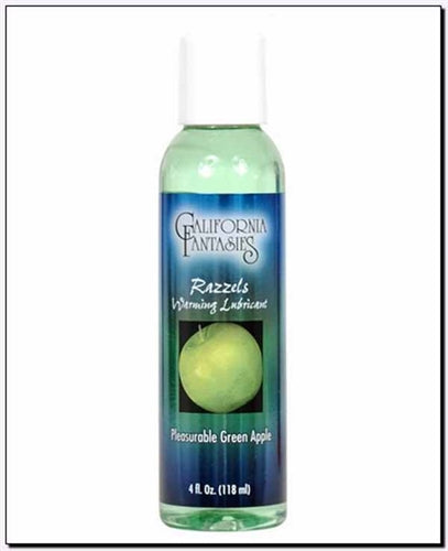 Razzels Warming Lubricant - Pleasurable Green Apple - 4 Oz. Bottle CF-RPG-04