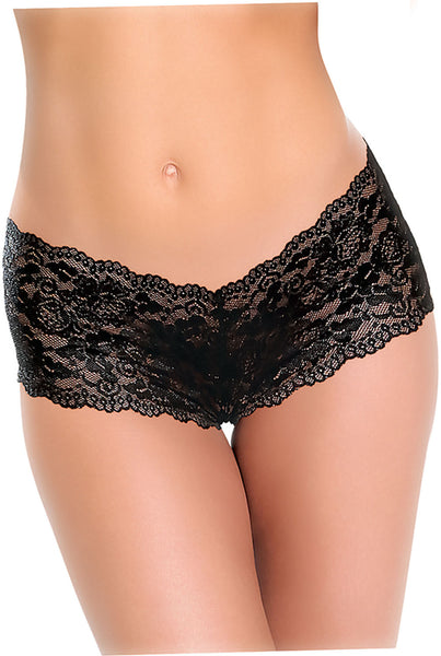 The Cheeky Panty With Rechargeable Bullet - Black AE-BL-4814-2