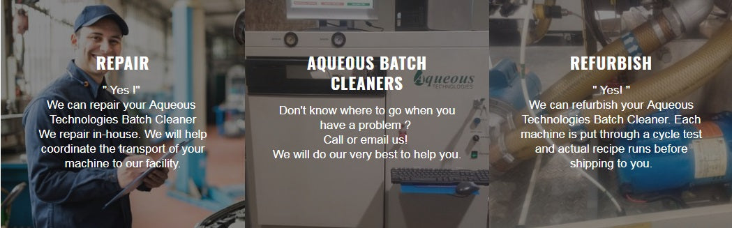 Batch Cleaner Service and Repair