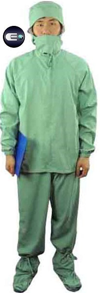 Cleanroom Autoclavable Coverall for Medical and Electronic Facilities