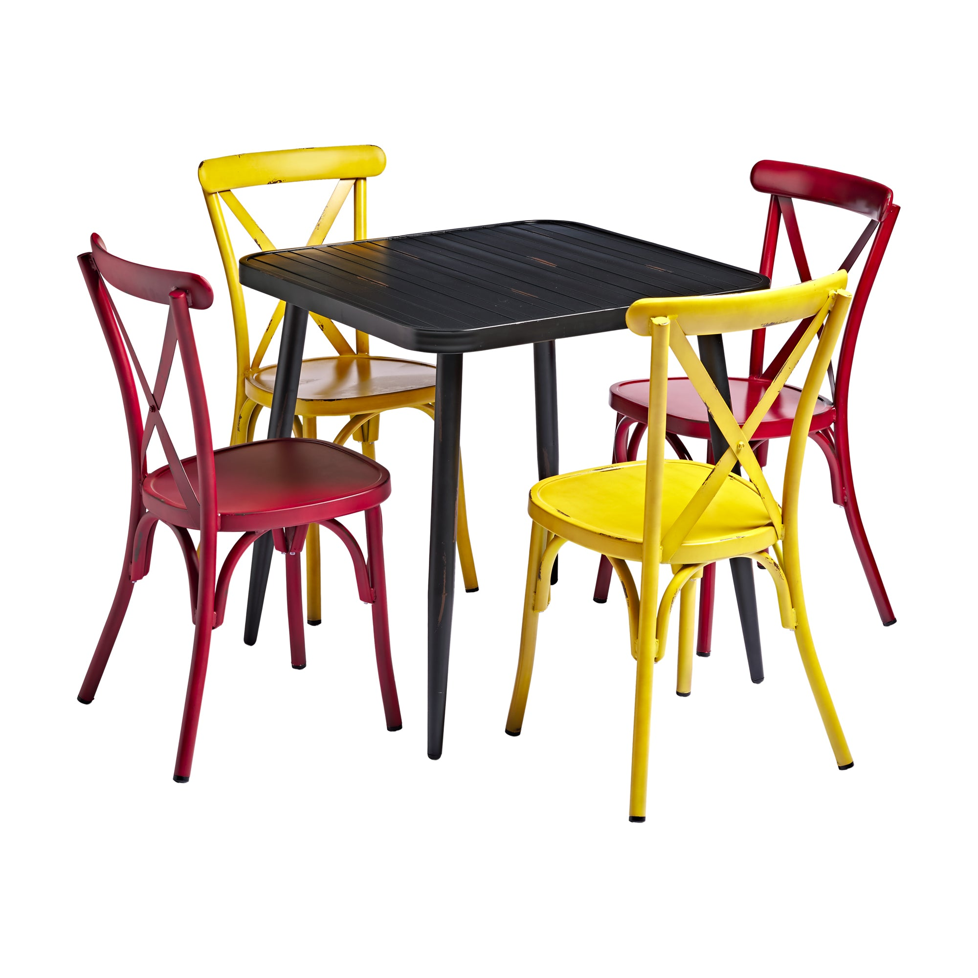 Black Square Cafe Dining Set