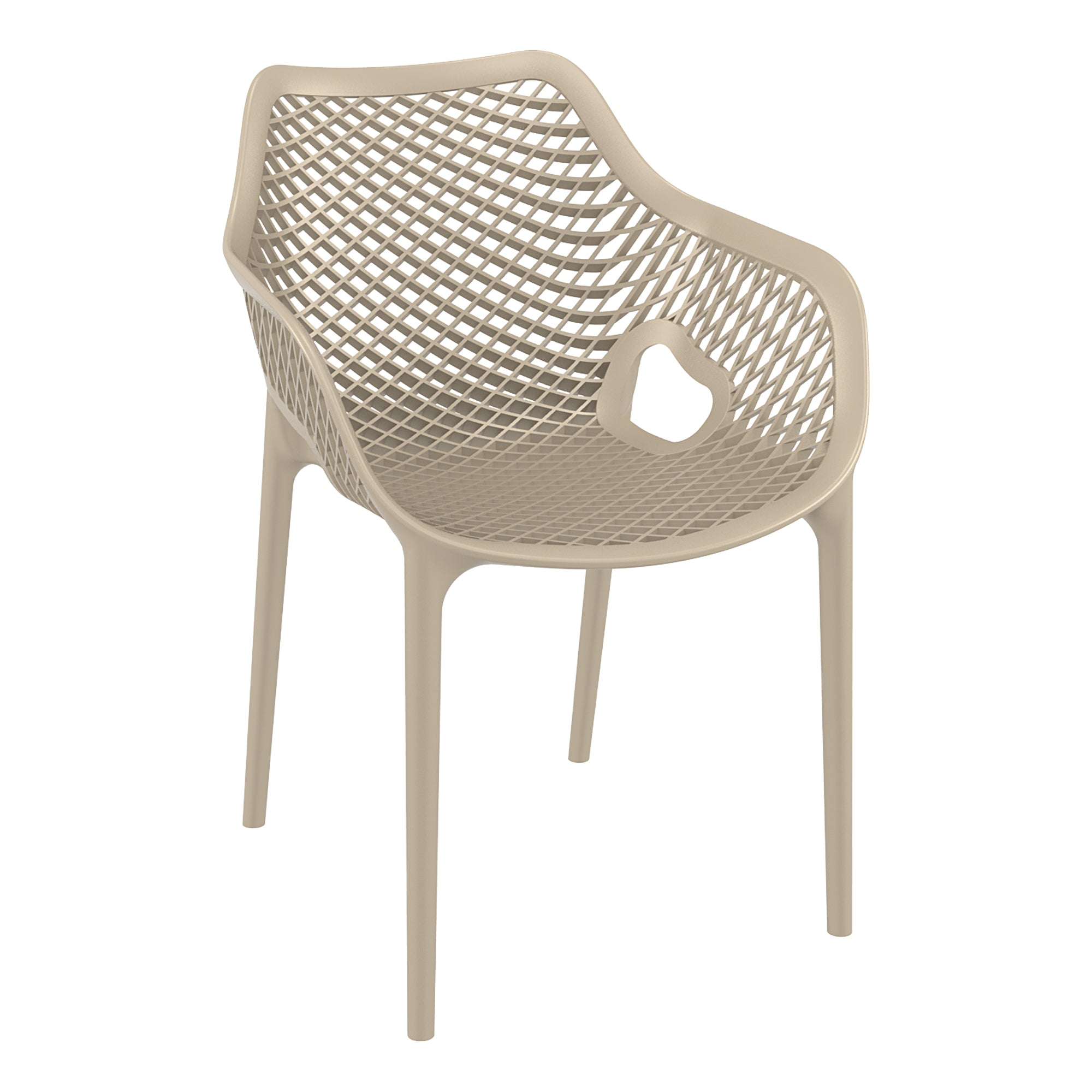 Spring Arm Chair - Taupe