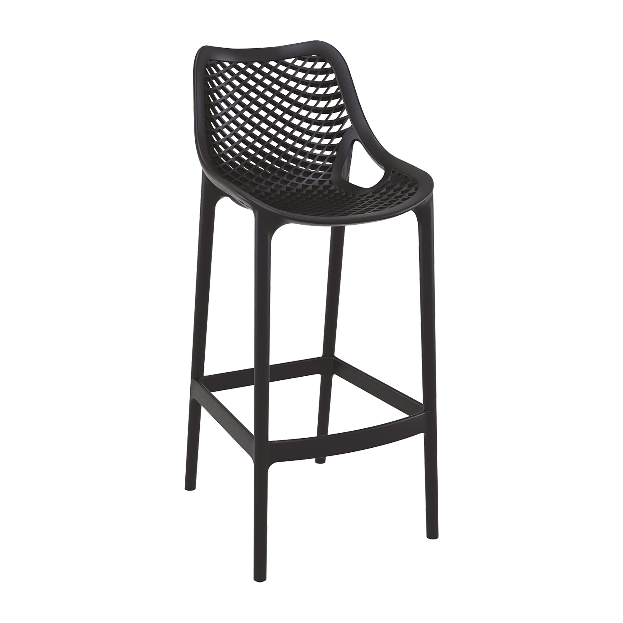 Spring Bar Stool - Black