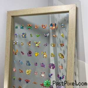 Pokemon Art 151 Pokemon Clear Large Frame pastpixel Picture Frame