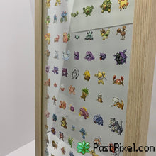 Load image into Gallery viewer, Pokemon Art 151 Pokemon Clear Large Frame pastpixel Picture Frame