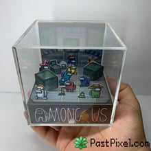 Load image into Gallery viewer, Among Us Loading Room Diorama Cube