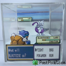 Load image into Gallery viewer, Pokemon Art Blastoise vs Mewtwo Cube pastpixel