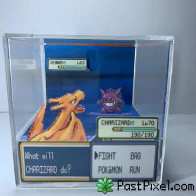 Pokemon Art Charizard vs Gengar Cube pastpixel