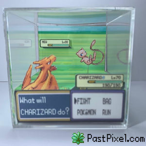 Pokemon Art Charizard vs Mew Cube pastpixel