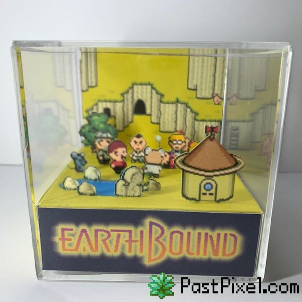 Pokemon Art Earthbound - Ending Cube pastpixel