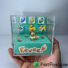 Load image into Gallery viewer, Pokemon Art Eevee Evolution Cube pastpixel