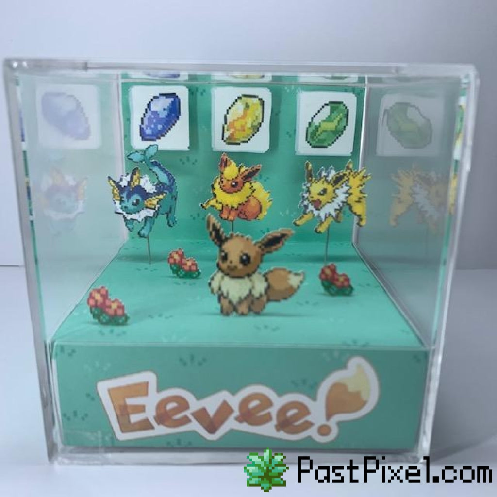Pokemon Art Eevee Evolution Cube pastpixel