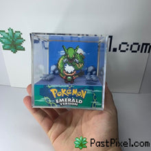 Load image into Gallery viewer, Pokemon Art Emerald - Sky Tower - Rayquaza pastpixel Diorama Cube