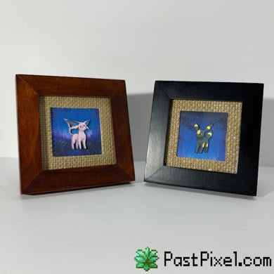 Pokemon Art Espeon & Umbreon Frame Set pastpixel