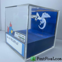 Load image into Gallery viewer, Pokemon Art Feraligatr vs Lugia Cube pastpixel Diorama Cube