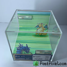 Load image into Gallery viewer, Gyarados Vs Dragnite Cube Diorama