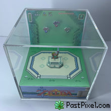 Load image into Gallery viewer, Legend Of Zelda A Link To The Past Master Sword Cube Diorama