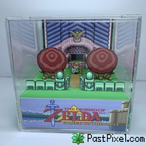 Pokemon Art Legend Of Zelda A Link To The Past Sanctuary Cube pastpixel