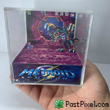 Load image into Gallery viewer, Pokemon Art Metroid Fusion - Omega Metroid Cube pastpixel