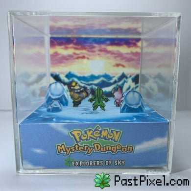 Pokemon Art Mystery Dungeon - Explorers of Sky Ending Cube pastpixel Diorama Cube