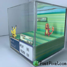 Load image into Gallery viewer, Pokemon Art Pikachu vs Charmader Cube pastpixel