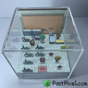 Pokemon Bike Shop Cube Diorama