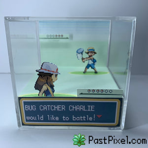 Pokemon Bug Catcher Battle Female Diorama Cube