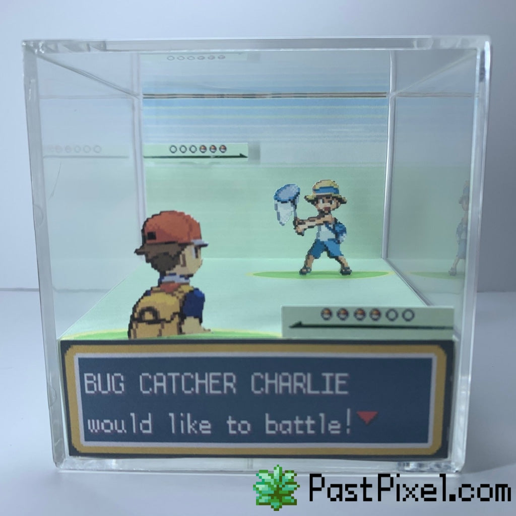 Pokemon Bug Catcher Battle Male Diorama Cube