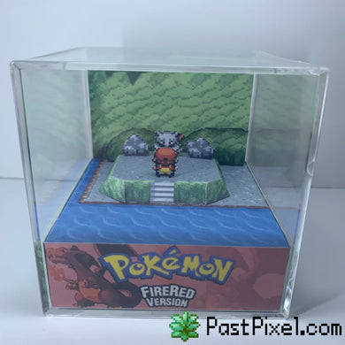 Pokemon Firered Mewtwo Cave Cube Diorama