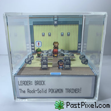 Pokemon Gym Leader Brock Diorama Cube