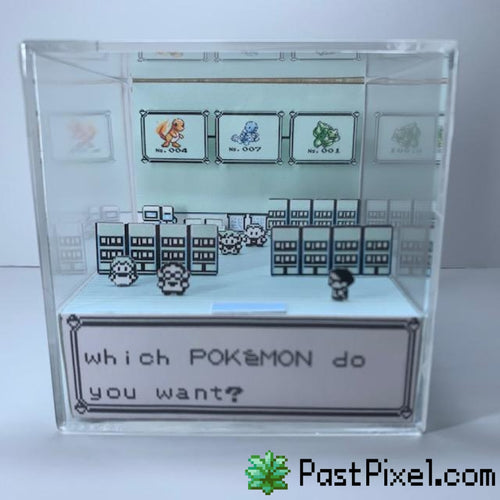 Pokemon Art Pokemon Red, Blue, Yellow Choose One Cube pastpixel