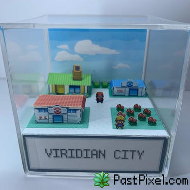 Pokemon Art Pokemon Viridian City Cube pastpixel