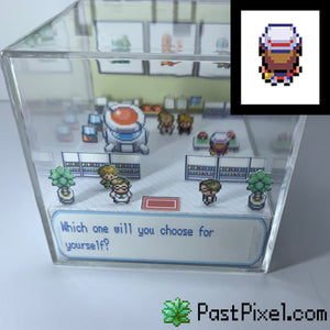 Pokemon Art Professor Oak Choose One Cube pastpixel