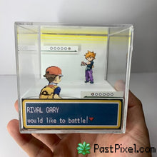 Load image into Gallery viewer, Pokemon Art Rival Gary Cube pastpixel Diorama Cube