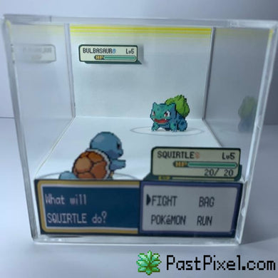 Pokemon Art Squirtle vs Bulbasaur Cube pastpixel