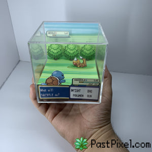 Pokemon Art Squirtle vs Weedle Cube pastpixel