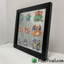 Load image into Gallery viewer, Pokemon Art Starting Pokemon Evolution Glass Frame pastpixel Picture Frame
