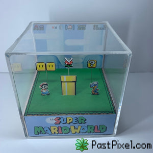Super Mario World Cube Diorama