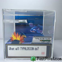 Load image into Gallery viewer, Pokemon Art Typhlosion vs Kyogre Cube pastpixel Diorama Cube